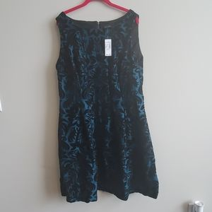 NWT Jacquard Velvet Fit & Flare Dress